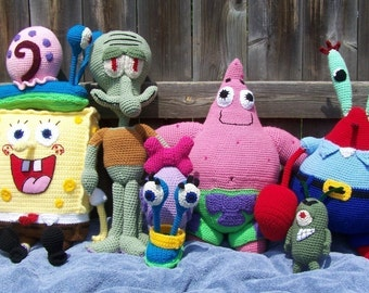 Spongebob and Friends 7 Patterns for 25.00