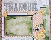 Tranquil One Page 12 x 12 Premade Scrapbook Layout