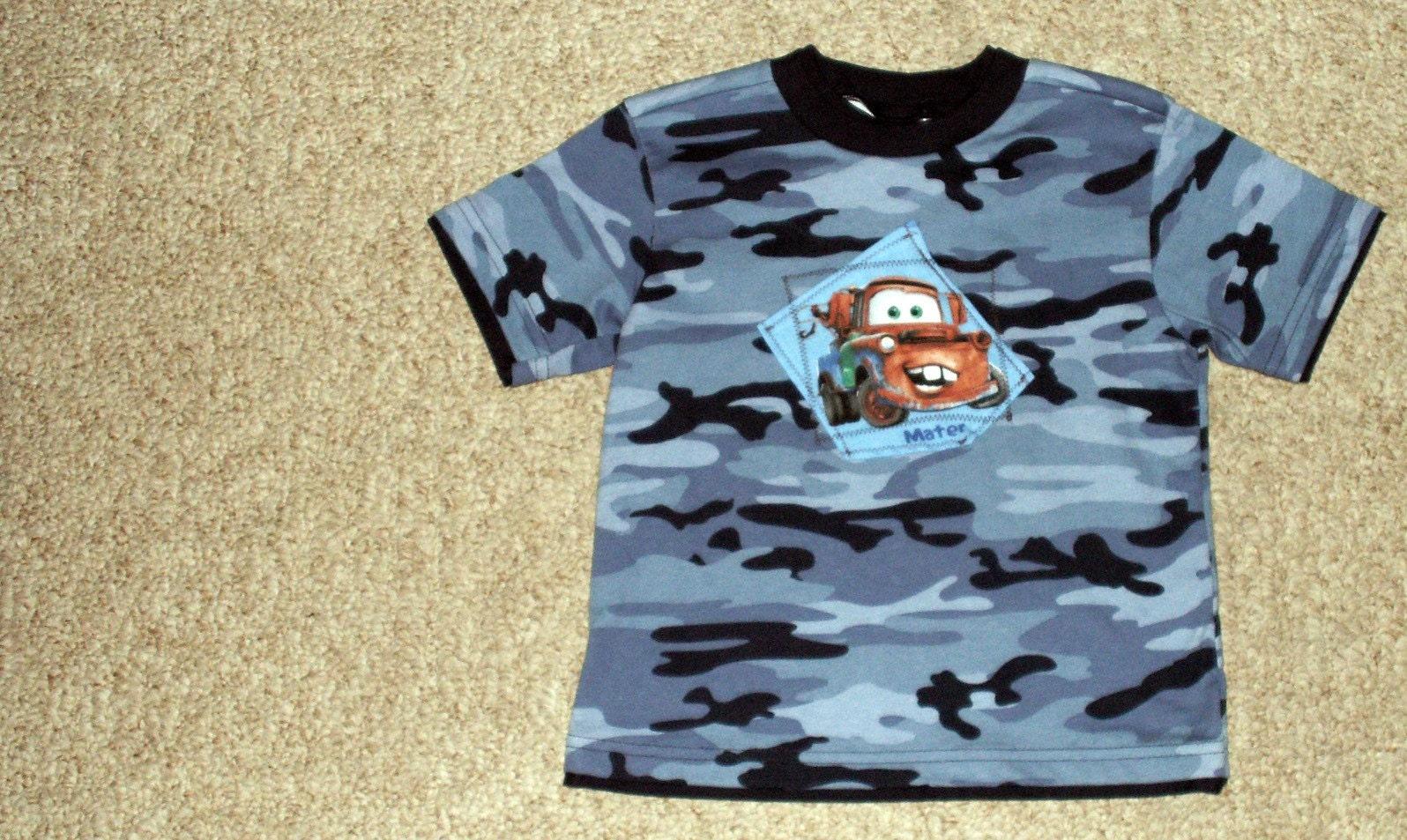 4t Blue Camo Mater Custom T Shirt