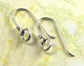 Handmade Sterling Silver Earwires or Earrings with Small Rings