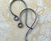 Oxidized Sterling Silver Handmade Classic Style Ear Wires, Antiqued Finish: 3 pair