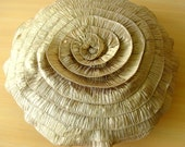 Vintage Golds - Throw Pillow Covers - 24 Inches Round Silk Pillow Cover with Ruffles