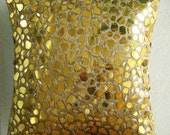 """Luxury Gold Cushion Covers, 16""""x16"""" Silk Pillows Covers For Couch, Square  Mosaic 3D Metallic Sequins Pillows Cover - The Gold Mosiac"""
