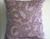 """Luxury Purple Decorative Pillow Cover, 16""""x16"""" Silk Pillows Covers For Couch, Square  Sequins Pillows Cover - Purple Ivy"""