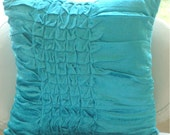 Decorative Throw Pillow Covers Couch Pillow Sofa Pillow Bed Toss Pillow 16x16 Turquoise Velvet Pillow Case Home Decor Living Turquoise Knots