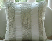 Metallic Attraction - Throw Pillow Covers - 18x18 Inches Silk Dupion with Metallic Leather Tapes to give a 3D look