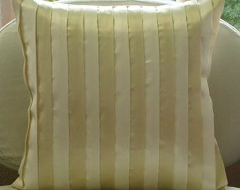 """Luxury Cream Throw Pillows Cover For Couch, 16""""x16"""" Satin Pillowcase, Square  Patchwork Pillows Cover - Butterscotch"""