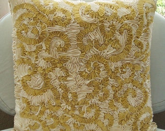 Magnificent Awe - Pillow Sham Covers - 24x24 Inches Pillow Sham Cover with Ribbon Embroidery