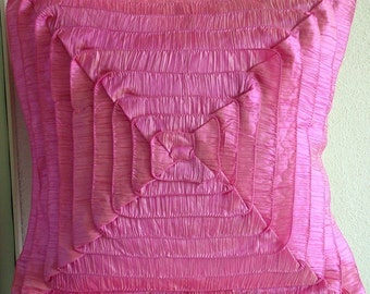 Vintage Blush - Euro ShamCovers - 26x26 Inches Crushed Silk Euro Sham Cover with Frills
