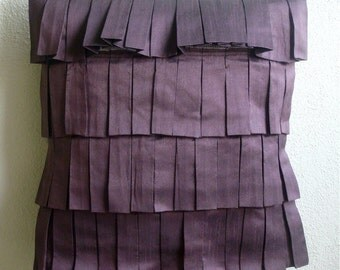 Plum Blocks - Throw Pillow Covers - 20x20 Inches Silk Pillow Cover in Plum