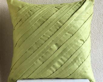 Decorative Pillow Sham Covers 24 Inch Accent Pillow Euro Sham Cover Couch Toss Bedroom Green Pillow Sofa Home Decor Contemporary Apple Green