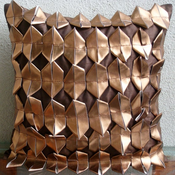 Copper Age Throw Pillow Covers 16x16 Inches Silk Pillow