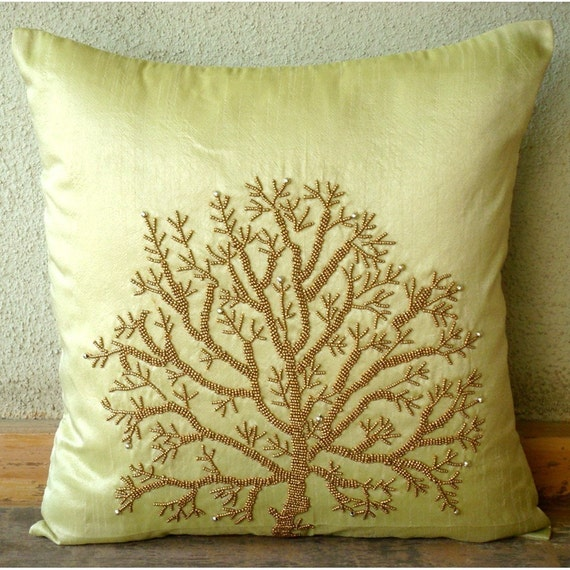 Tree Of Life Throw Pillow Covers 16x16 Inches Silk Pillow