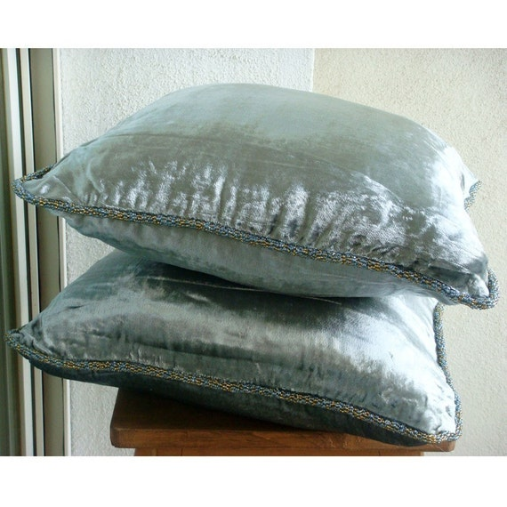 Silver Decorative Bed Pillows : thehomecentric - Decorative Throw Pillow Covers Accent Pillow Couch Pillow Bed Toss Pillow Sofa ...