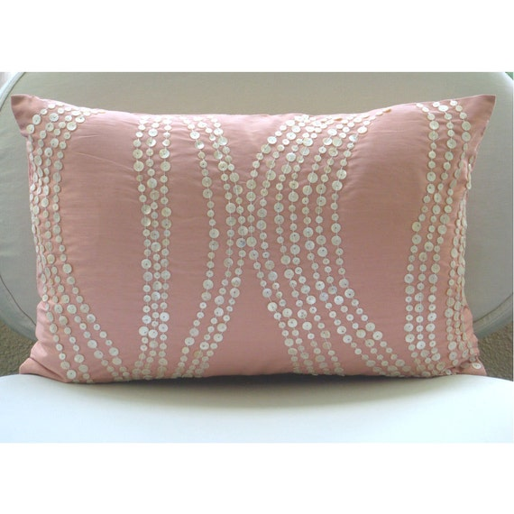 Decorative Pillow Pink : Decorative Pillows Oblong/Lumbar Pillow Cover Accent Pillow