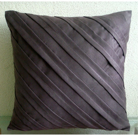 Contemporary Chocolate Brown Euro Sham Covers Pillow