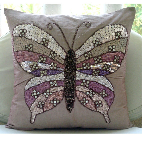 Pink Beaded Decorative Pillow : thehomecentric - Pink Decorative Pillow Cover, 16