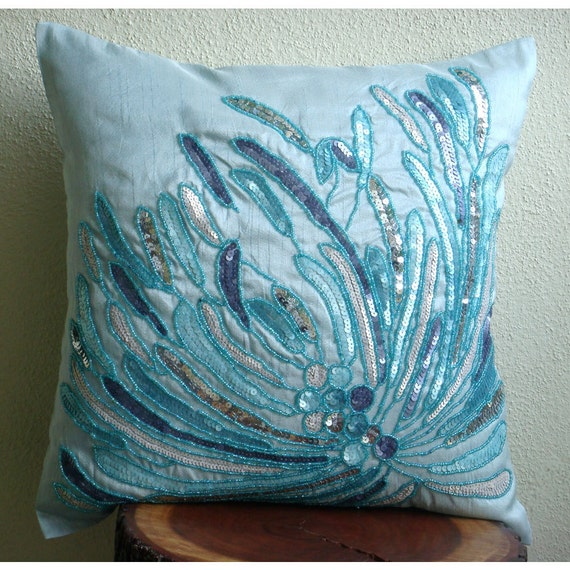 Thehomecentric Blue Decorative Pillow Cover 16 Quot X16