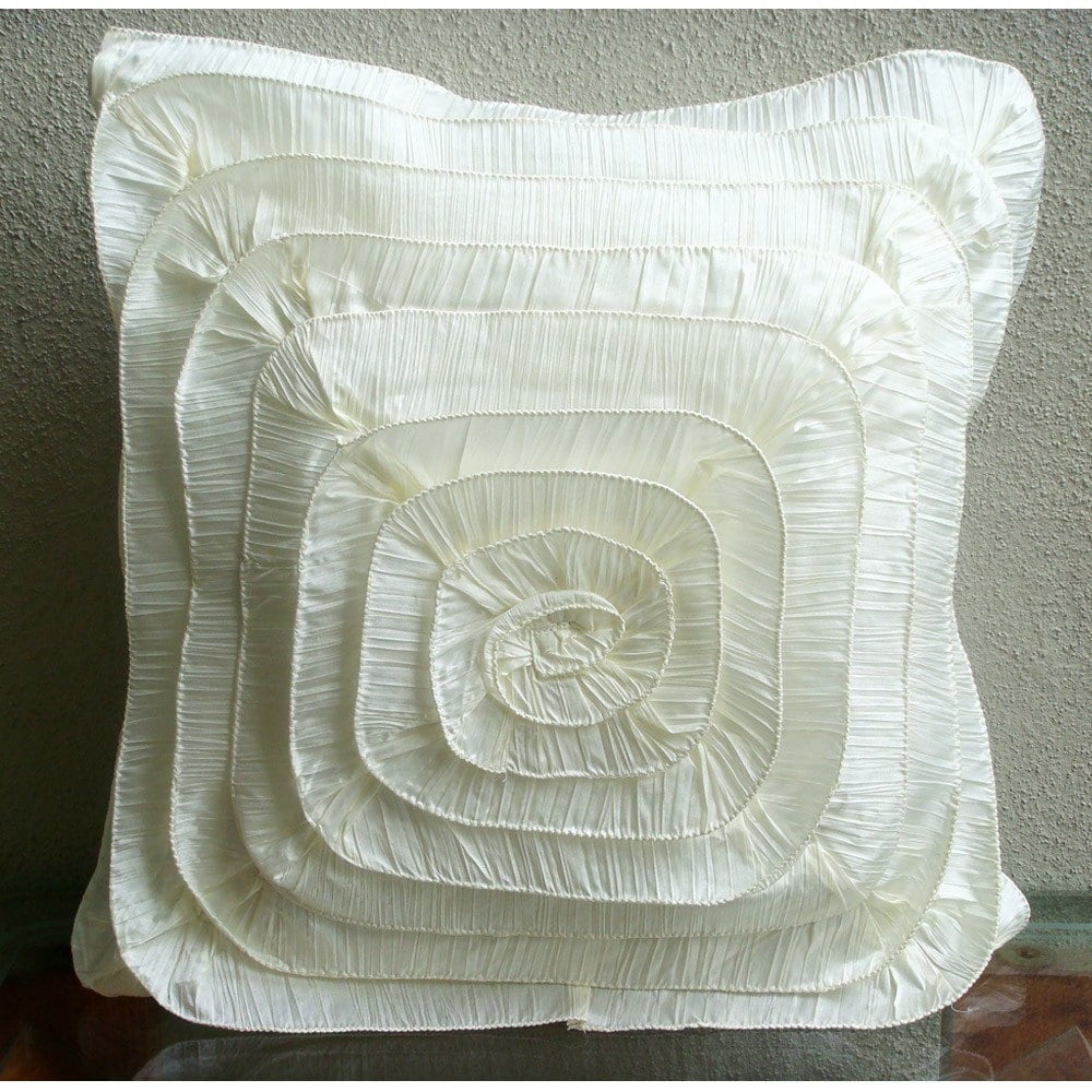 20x20 Throw Pillows Covers : Vintage Frills Throw Pillow Covers 20x20 by TheHomeCentric