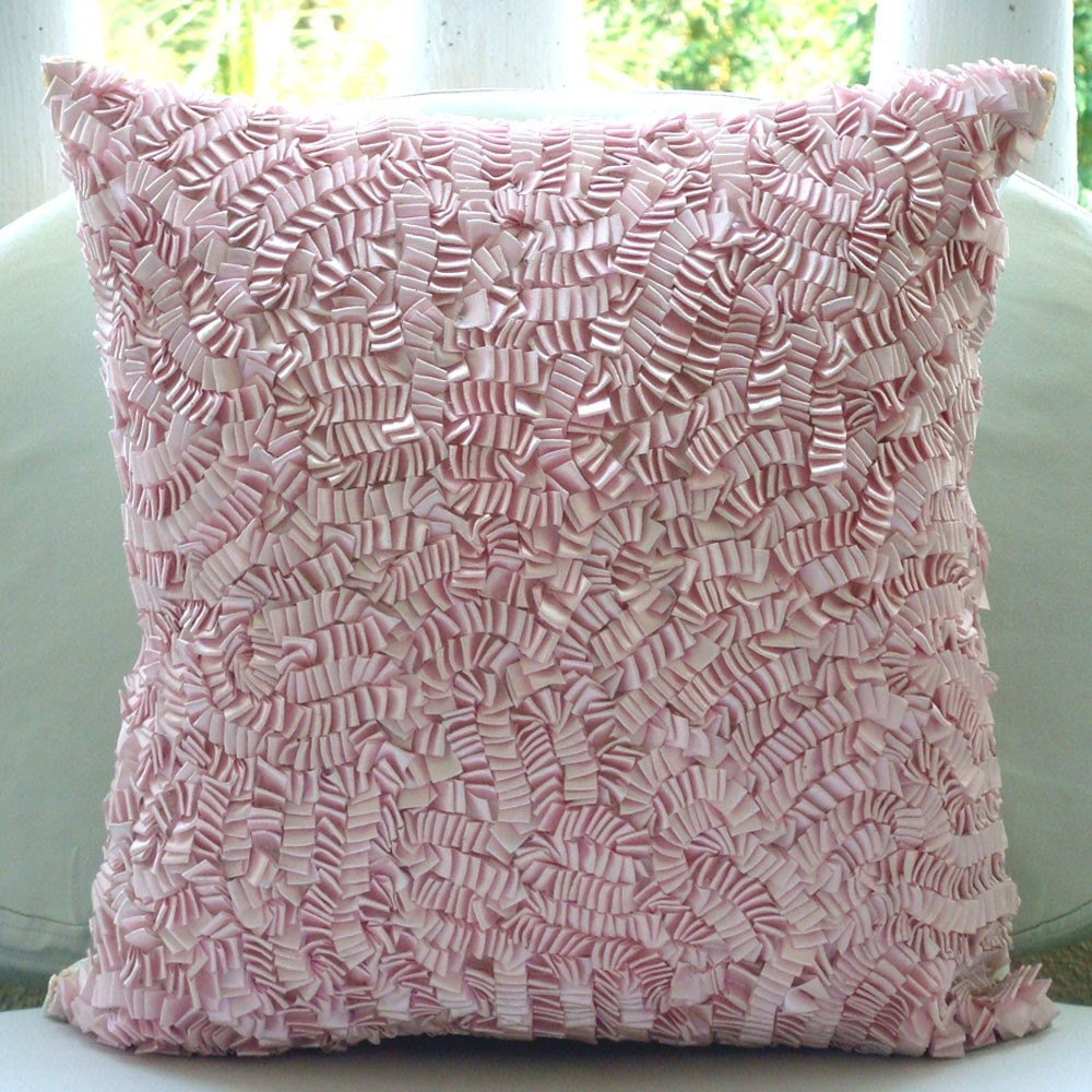 Pink paradise throw pillow covers inches silk