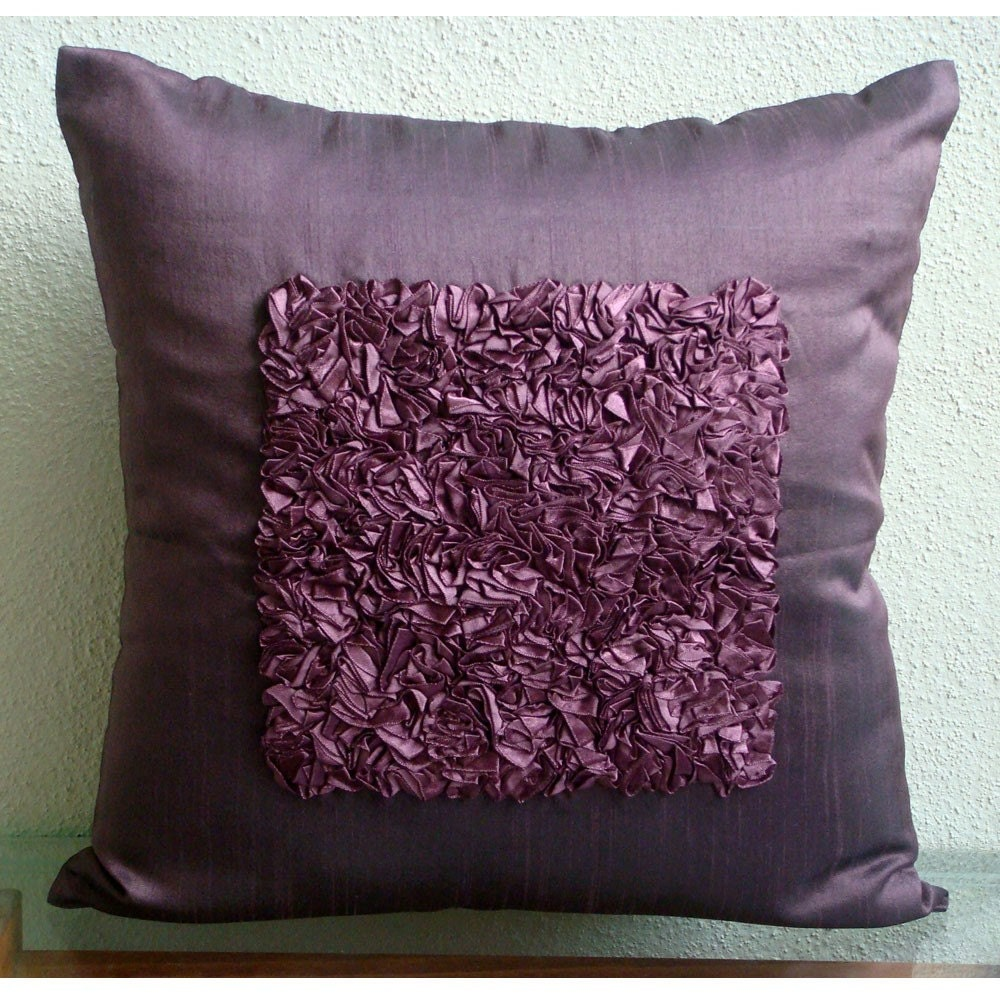 designer plum throw pillow covers x silk - 🔎zoom