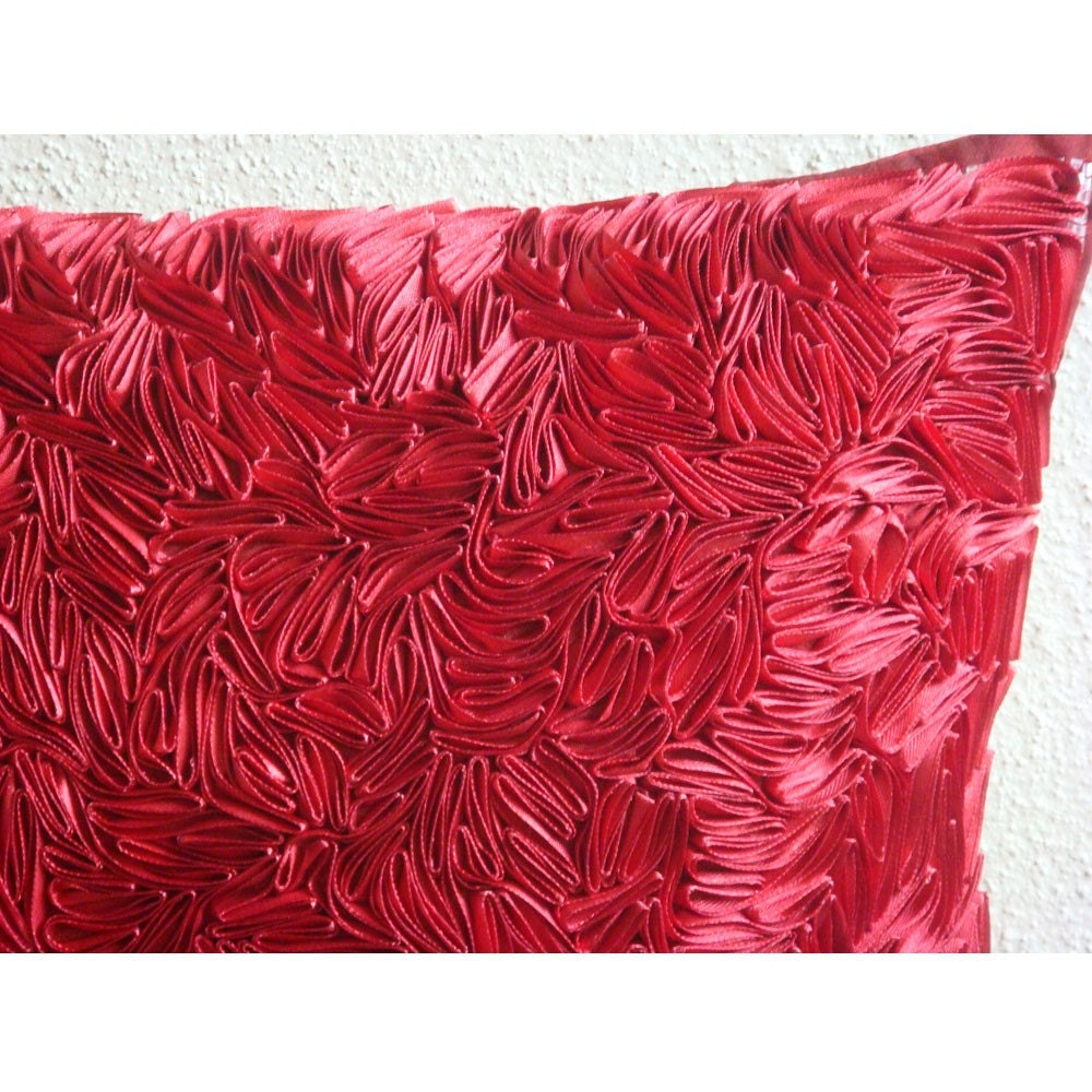 Luxury Red Throw Pillows Cover For Couch 16x16