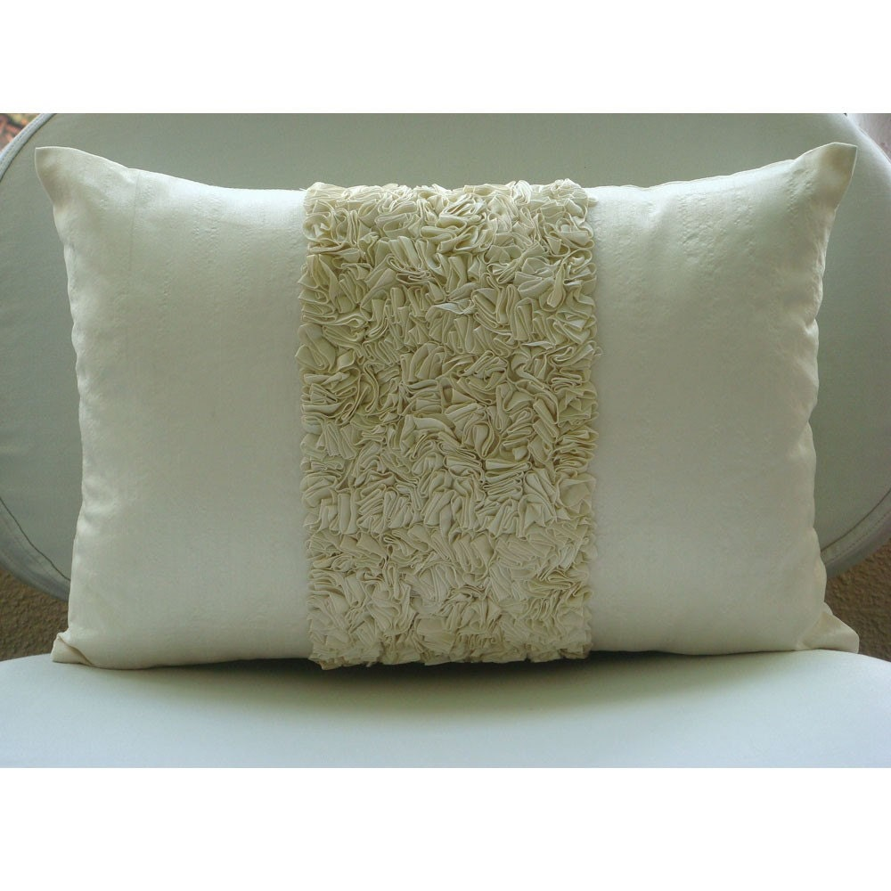 Decorative oblong lumbar throw pillow covers accent pillow - Decorative throw pillows ...