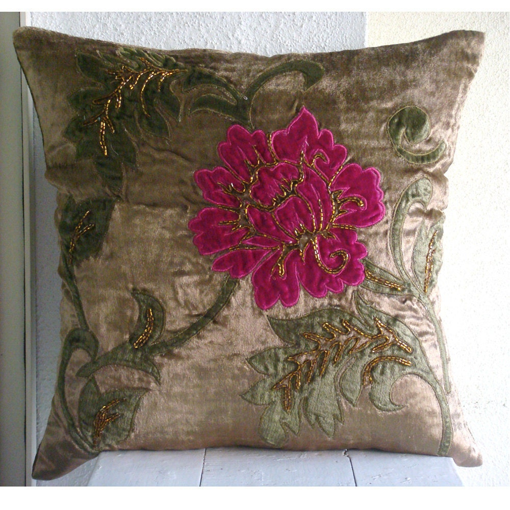 Decorative throw pillow covers 16x16 inch choco velvet for Fewell custom homes