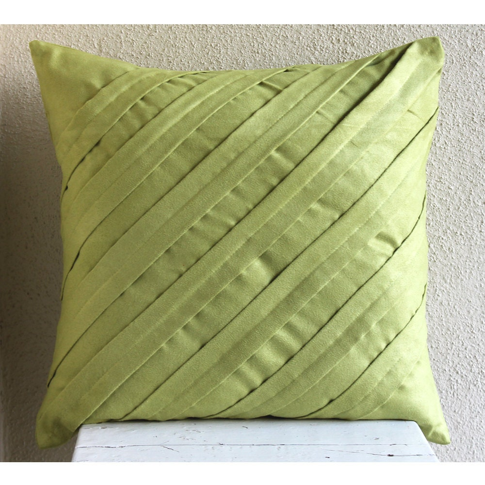 apple green throw pillows cover x faux suede - 🔎zoom