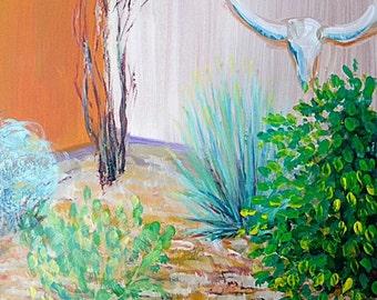 Biosphere Garden 1 original acrylic landscape painting