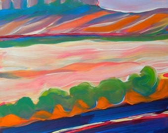 Canyon Dreams 16 original Southwest abstract landscape oil painting