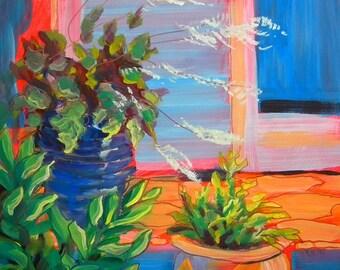 Joanne's Porch original plein air still life oil painting