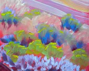 Sage 2 original abstract landscape oil painting