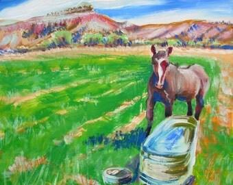 Ghost Ranch Horse original landscape oil painting