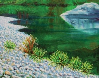 Smith River 1 original water landscape painting