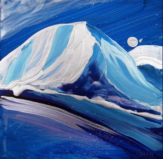 Arctic 3 original acrylic landscape painting