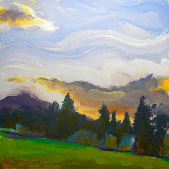 Valley Storm 5 original abstract landscape oil painting