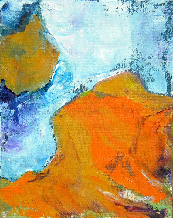 Slot Canyon 3 original abstract landscape painting