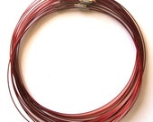3 pcs Red Stainless Steel Chain Cord Necklace 18in