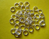 150pcs of silver plated 4mm open jump ring