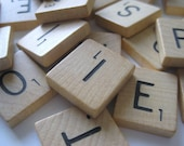 30pcs   Wooden Scrabble Tiles
