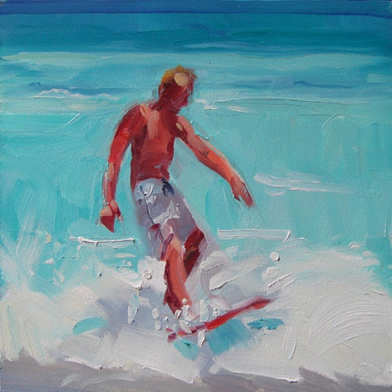 Surfer Painting - Easy Rider - by Robin Cheers