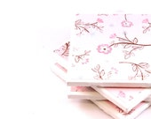 SALE - Tile Coasters - Pretty in Pink - Set of 4 (Linen Pink)