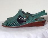 Vintage 80s Womens Huarache Sandals sz 9