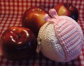 Teacher's Pet crochet fruit protector - pink ebi
