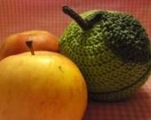 Teacher's Pet knit and crochet fruit protector pouch - light green apple