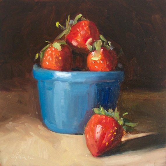 Strawberries Painting by Cynthia Haase Fine Art
