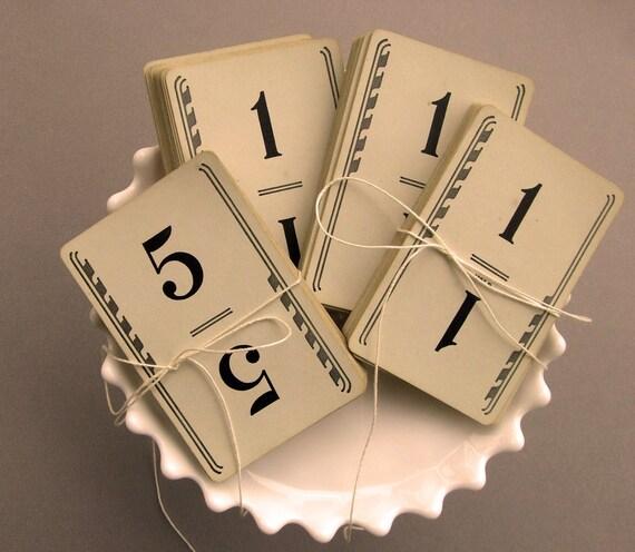 Fabulous 1950s VinTage WeDDinG TabLe NumBeRs-  Vintage Number Cards, set of 30