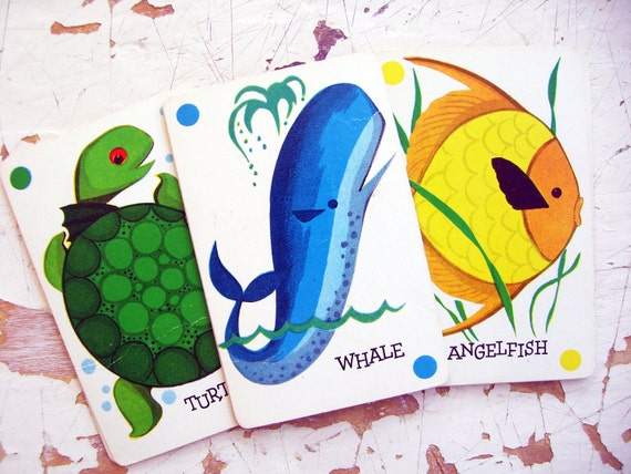 CATCH, Under The Sea- Vintage Playing Cards By Arrco, A Sweet Set of 10