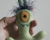 Stuffed Monster-GREEN-Ornament-Recycled Materials